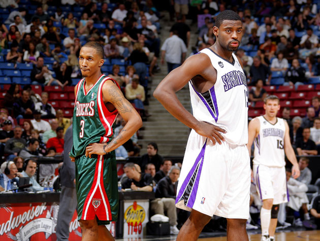 Brandon Jennings and Tyreke Evans in 2010, when the air was sweeter (Getty Images)