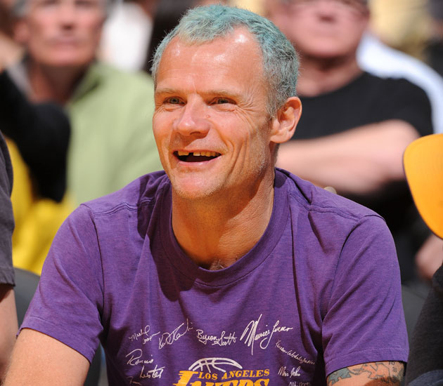 Flea's hair color belies his secret Oklahoma City Thunder fandom (Getty Images)