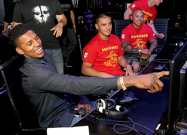 Few sights are more splendid than a happy Nick Young. (Jonathan Leibson/Getty Images)