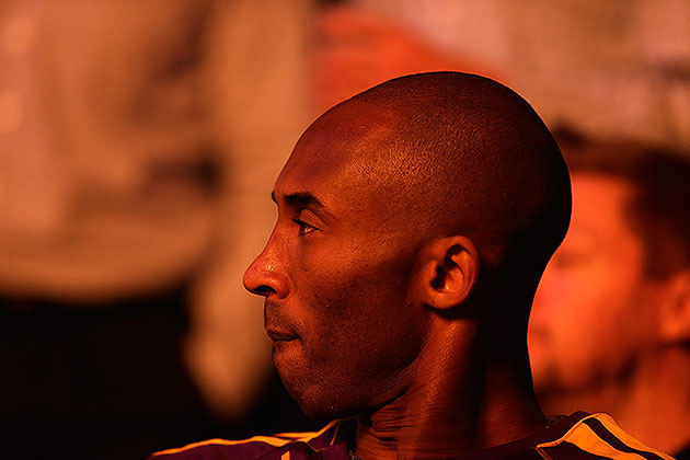 From here on out, Kobe's keeping his lip buttoned, Twitter-wise. (Ezra Shaw/Getty Images)
