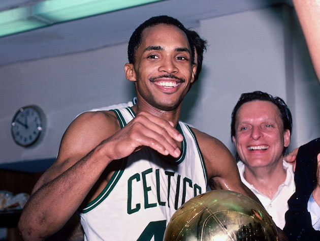 Gerald Henderson, following Boston's Game 7 win in 1984 (Getty Images)