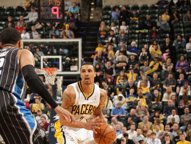 George Hill plays to the teaming throngs (Getty Images)