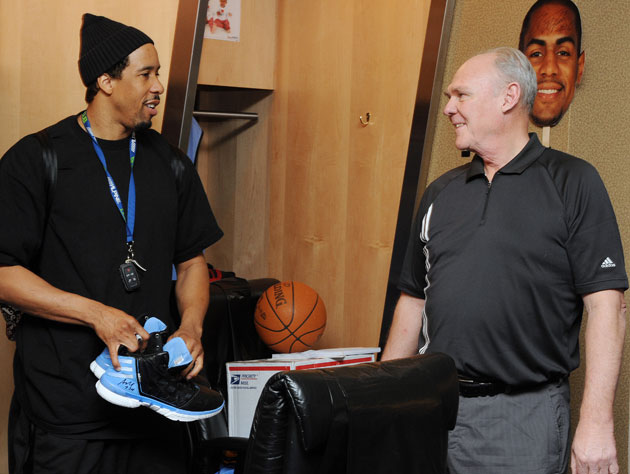 George Karl wonders if Andre Miller wants to stick around for a bit, work on some slide drills (Getty Images)