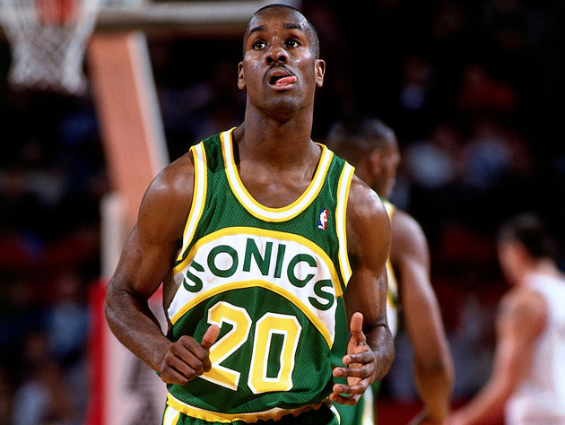 Gary Payton in 1993 (Getty Images)