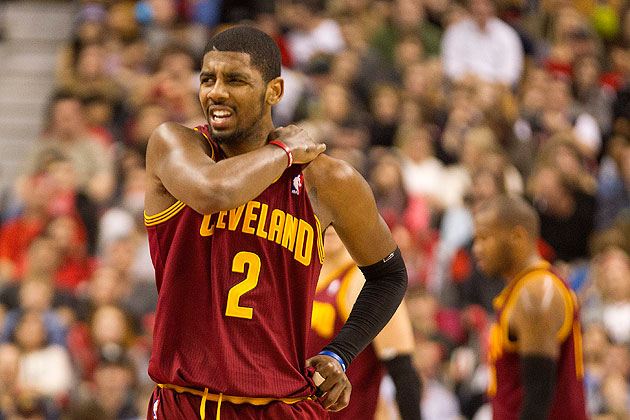 Get well soon, Kyrie. (AP/The Canadian Press, Chris Young)