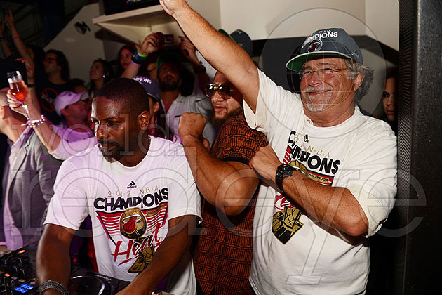 Heat owner Micky Arison digs chilling at the DJ booth. (Photo via WorldRedEye.com)
