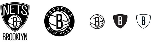 Here are the Brooklyn Nets' new logos. (Image via NBA.com/nets)