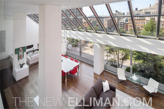 High ceilings and sweet views. (Photo via elliman.com)