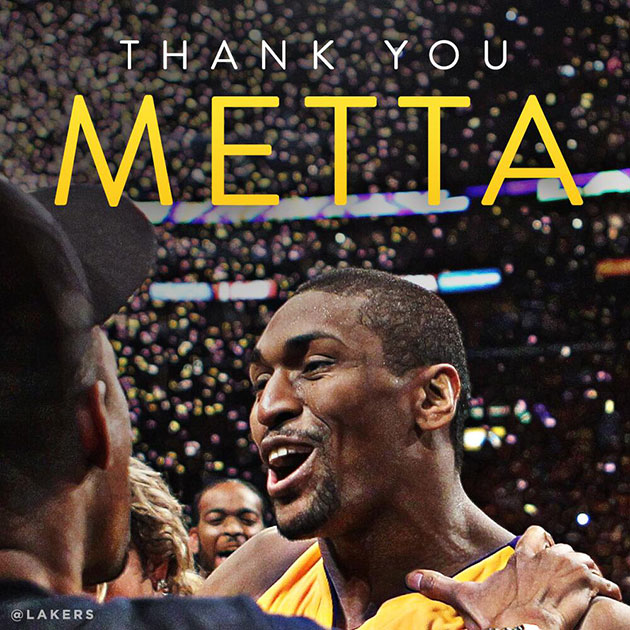 How the Lakers said goodbye. (Image via @Lakers)