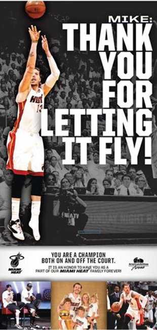 How the Miami Heat said thank you. (Image via South Florida Sun-Sentinel)
