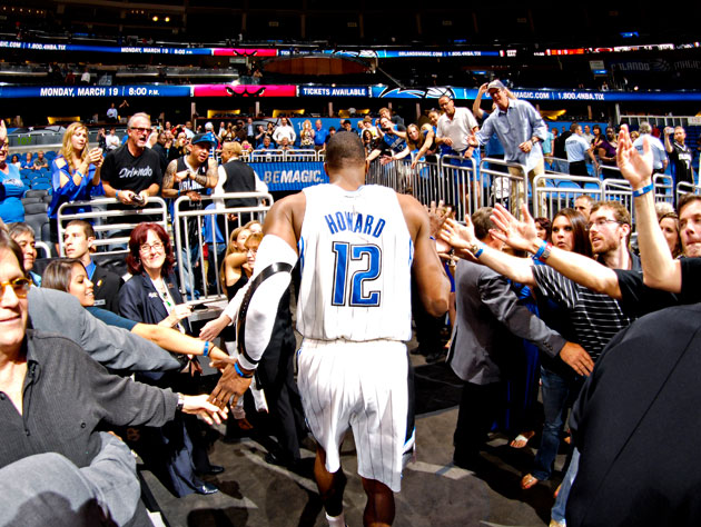Dwight Howard, in what is probably not his last home game in Orlando (Getty Images)