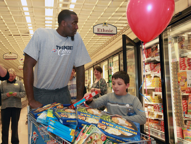 I just wish there was some way to tell if Kendrick Perkins of the Oklahoma City Thunder is a hungry man. (Getty Images)