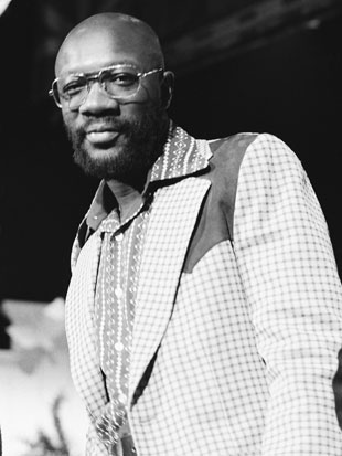 Isaac Hayes, in 1974 (Getty Images)