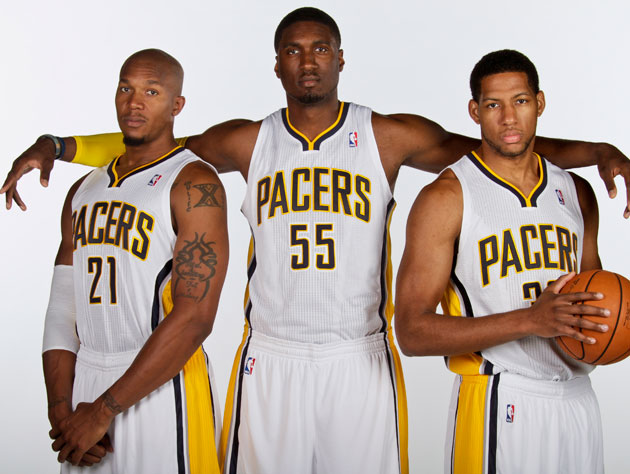 Three unidentified Indiana Pacers (Getty Images)