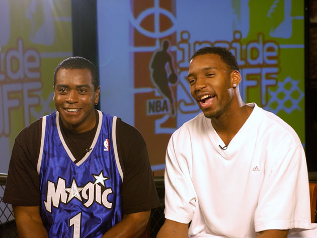 Tracy McGrady, 30 years Ahmad Rashad's junior, passes on wearing a uniform (Getty Images)