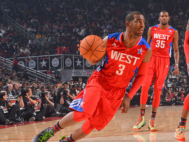 In his sixth All-Star Game, Chris Paul won his first MVP award. (Getty Images)