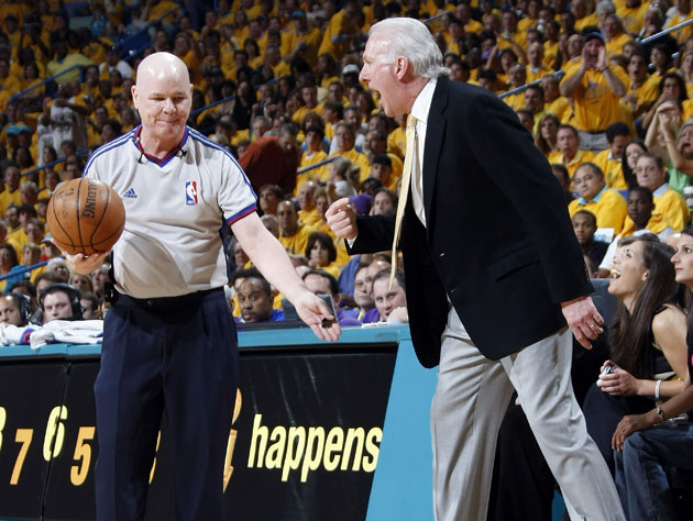 Joey Crawford, Gregg Popovich, and the ancient art of seduction (Getty Images)