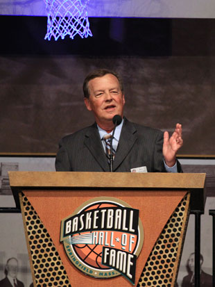 Jim Durham upon receiving the Curt Gowdy Award (Getty Images)
