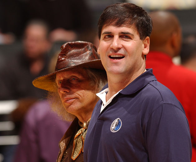 Jim Goldstein and Mark Cuban in a slightly less successful photo (Getty Images)