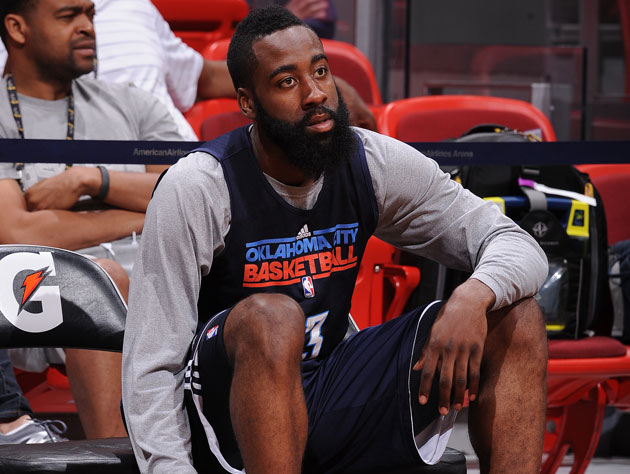 James Harden considers his future before Game 5 (Getty Images)