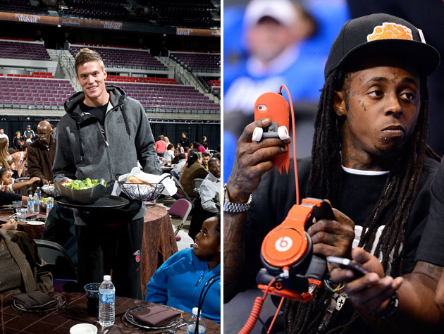 Jonas Jerebko and Lil Wayne team up to help the kids (Getty Images)