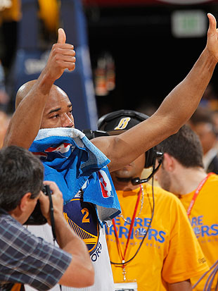 Jarrett Jack after his last game with the Warriors (Getty Images)
