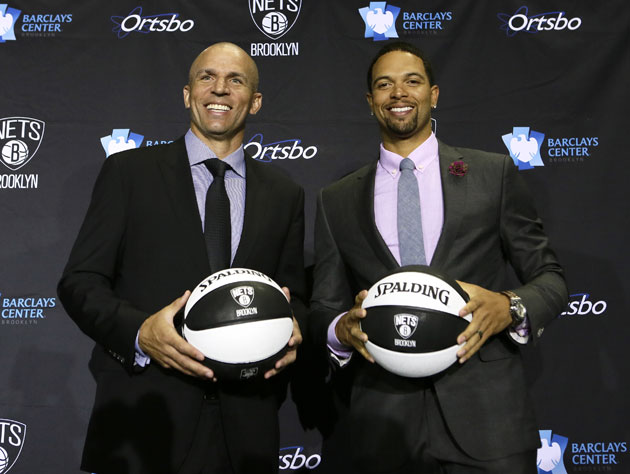 New coach Jason Kidd, and August-only Deron Williams (Getty Images)