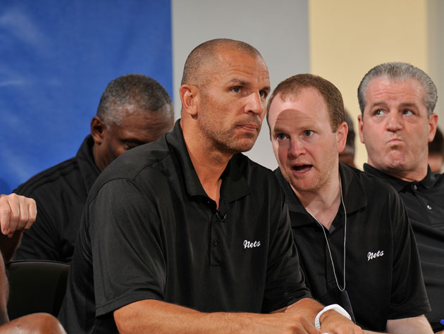 Jason Kidd and Lawrence Frank at the Orlando Summer League earlier this month (Getty Images)