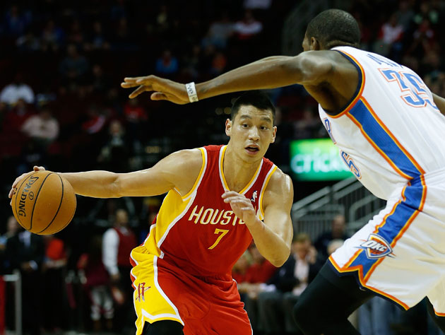 Jeremy Lin scored 29 points with eight assists and six rebounds on Wednesday (Getty Images)
