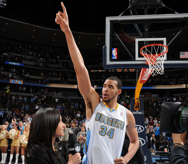 JaVale McGee gives it up for B.I.G. (Getty Images)