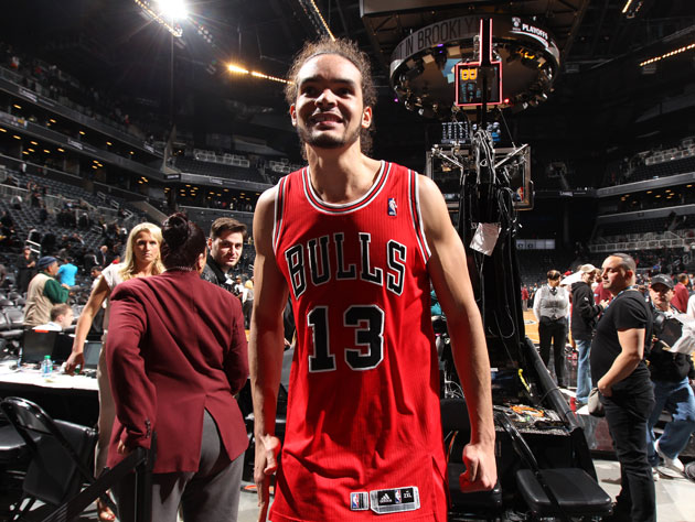 Joakim Noah left everything on the court in Game 2 (Getty Images)
