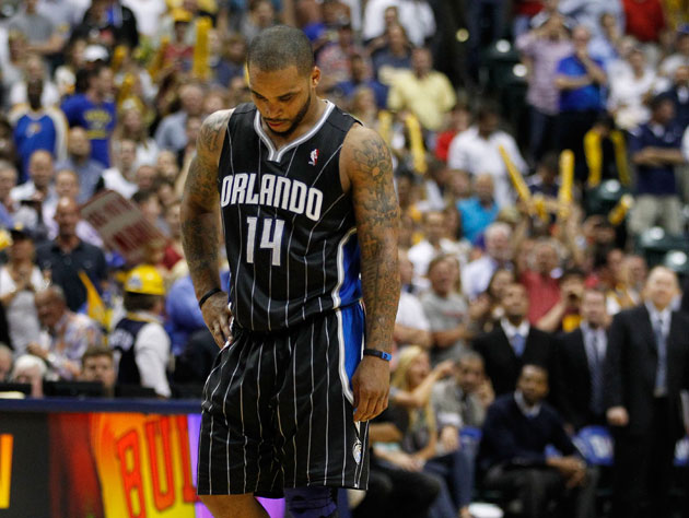 Jameer Nelson ponders his options and shoes but mostly his options (Getty Images)