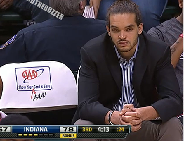 Sad Joakim, after the change (Courtesy SLAMonline.com and twitter.com/beyondthebuzzer)
