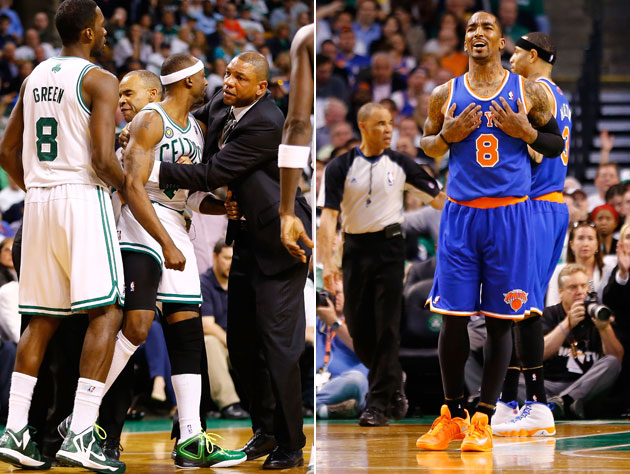 Jason Terry and J.R. Smith had different reactions to Smith's ejection (Getty Images)