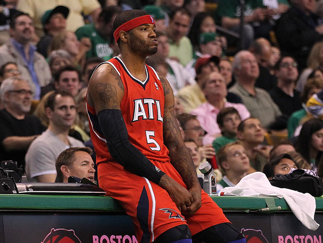 "Josh Smith, in the home of ""because there are no fours."" (Getty Images)"
