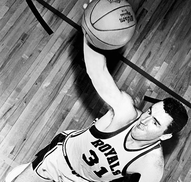 Jack Twyman with the Rochester Royals, in 1958 (Getty Images)