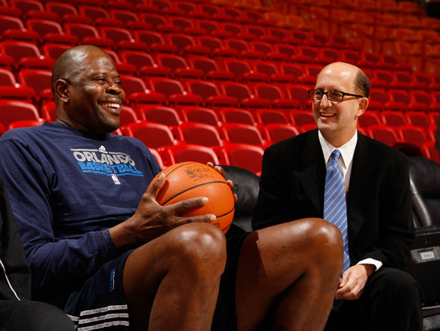 Patrick Ewing and Jeff Van Gundy discuss the relative merits of obsession and fandom (Getty Images)