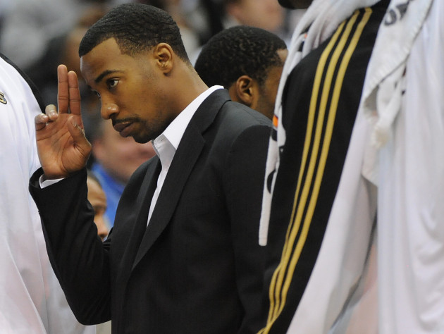 Javaris Crittenton acknowledges the crowd during a Jan. 2010 Wizards game. (Washington Post/Getty)