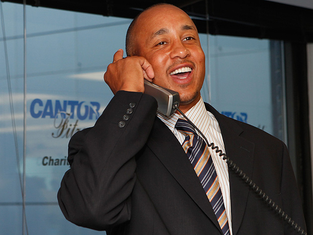 John Starks is so glad you called. (Getty Images)
