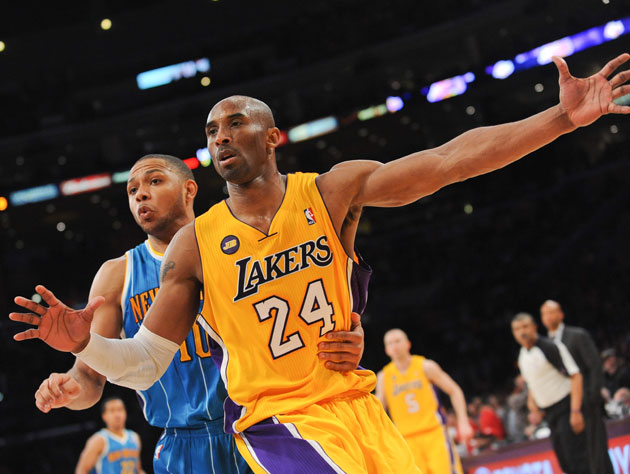 Kobe Bryant nearly scored up to his own number in the fourth quarter on Tuesday (Getty Images)