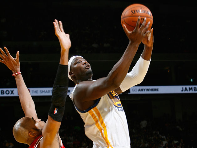 Kwame Brown takes the hardest shot ever (Getty Images)