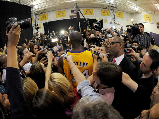 Kobe Bryant's back (Getty Images)