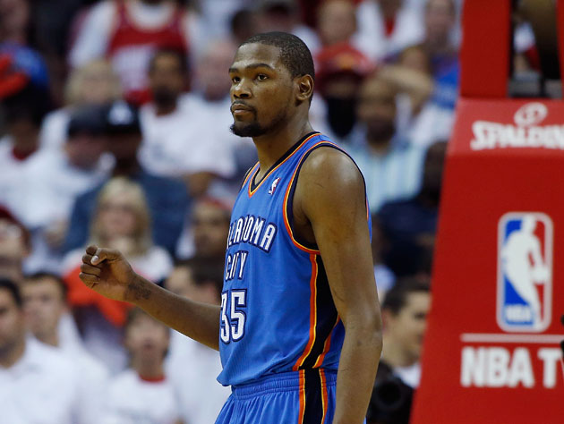 Kevin Durant scored 41 draining points on Saturday (Getty Images)