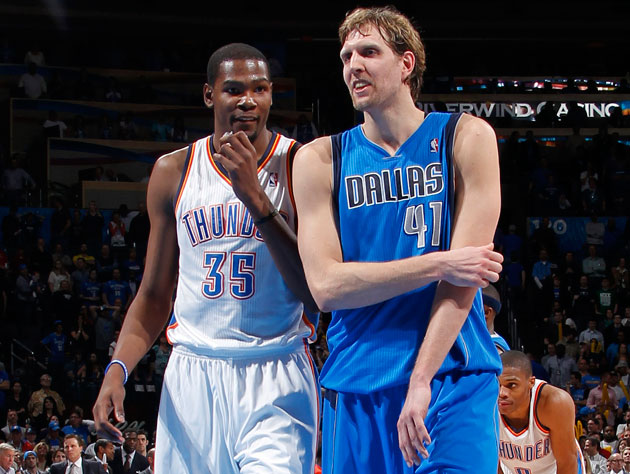 Kevin Durant and Dirk Nowitzki teams will tip off on Saturday evening (Getty Images)