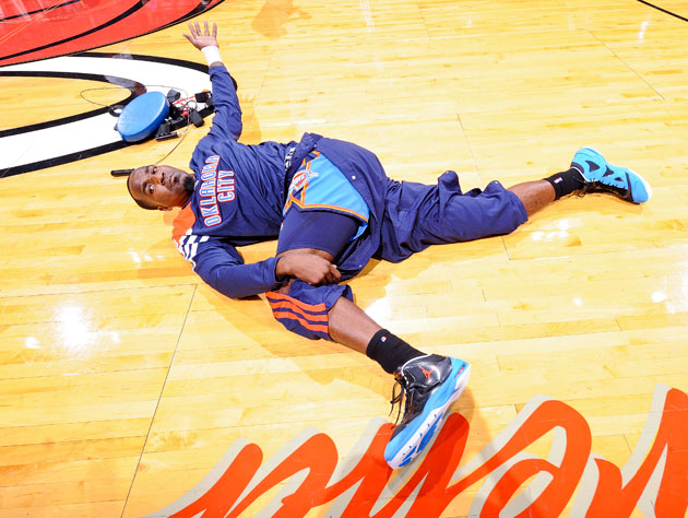 Kendrick Perkins shaved his legs for this?!? (Getty Images)