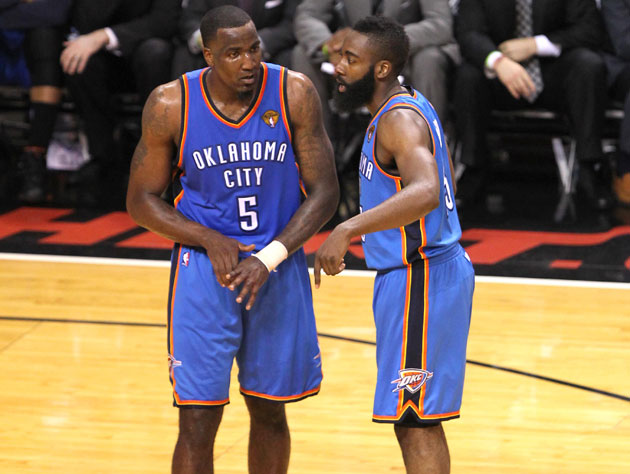 Kendrick Perkins and James Harden discuss their misgivings with the 2011 Collective Bargaining Agreement (Getty Images)
