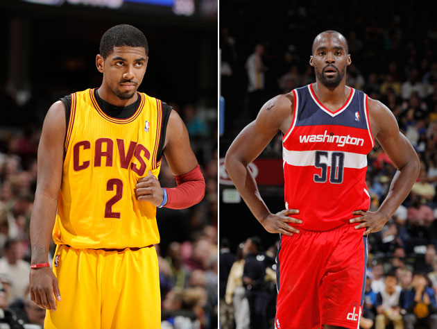 Kyrie Irving and Emeka Okafor are not enjoy the turn of spring (Getty Images)
