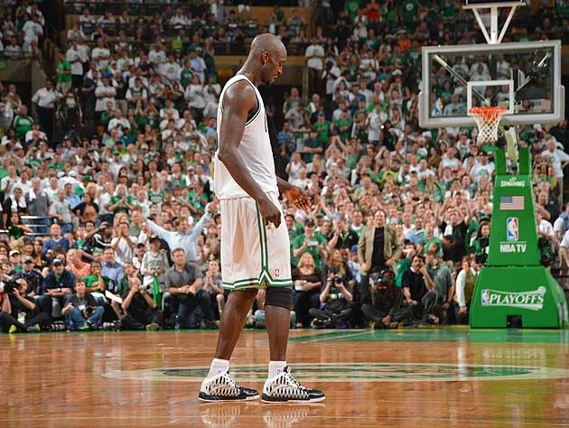 Kevin Garnett listens, then ignores. (Getty Images)
