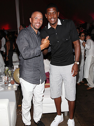 Kidd and Nets guard Joe Johnson at the Compound Foundation's 'Fostering A Legacy' benefit. (FilmMagic)