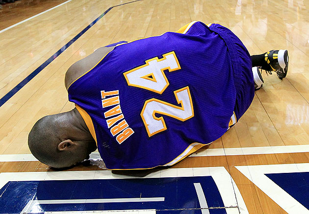 Kobe Bryant has been ruled out indefinitely. (AP/Atlanta Journal-Constitution, Curtis Compton)